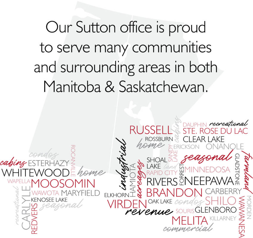 Sutton-Harrison Real Estate is proud to serve many towns in Manitoba. Click a link below to view our listings in that town.